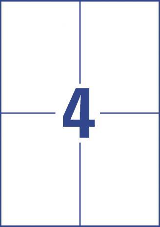 Avery Zweckform Universaletikett weiß, 105 x 148mm,400 Etik./Pck.-3