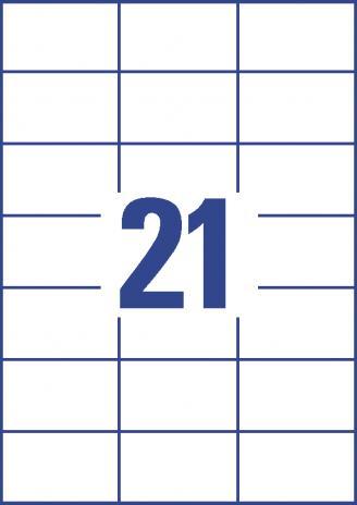 Avery Zweckform Universaletikett weiß 70 x 42,3 mm-3
