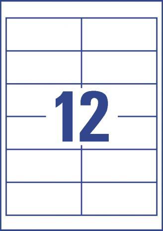 Avery Zweckform Universaletikett weiß, 97 x 42,3 mm-3