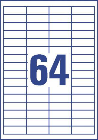 Avery Zweckform Universaletikett weiß, 48,5 x 16,9 mm-3