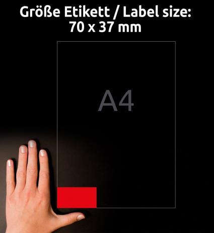 Avery Zweckform Universaletikett 70 x 37 mm, gelb-4