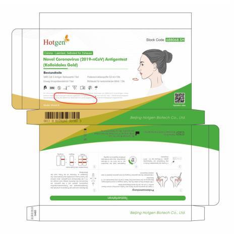 HOTGEN Novel Coronavirus 2019-nCoV Antigen Test mit Laienzulassung-4