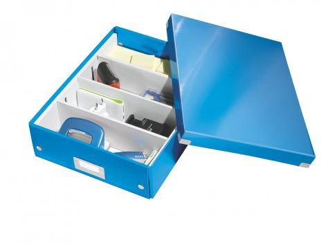 Leitz Aufbewahrungsbox Click & Store WOW 28 x 10 x 37 cm blau-4