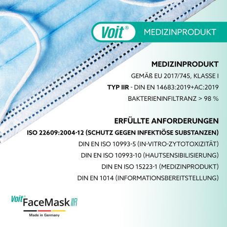 Voit OP-Masken, medizinische Gesichtsmasken Face Mask Typ IIR 50er Pack-4