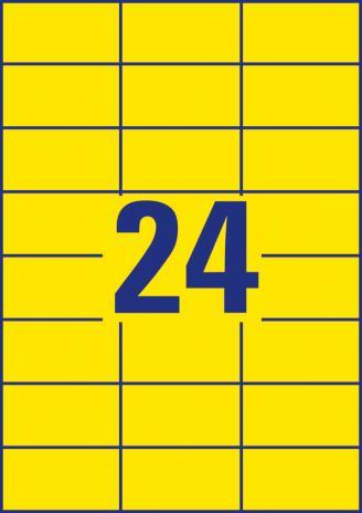 Avery Zweckform Universaletikett 70 x 37 mm, gelb-5