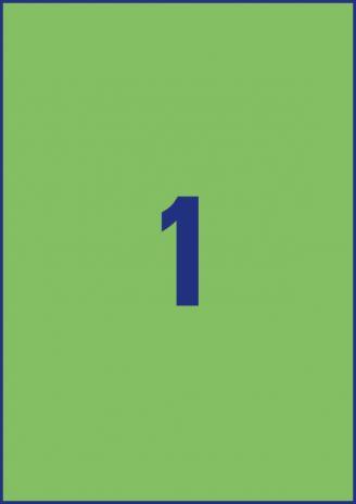 Avery Zweckform Universaletikett 210 x 297 mm grün-5