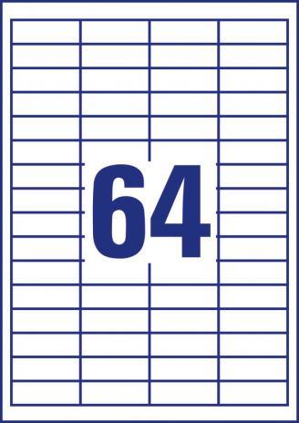 Avery Zweckform Universaletikett ultragrip 3667 48,5 x 16,9 mm weiß-5