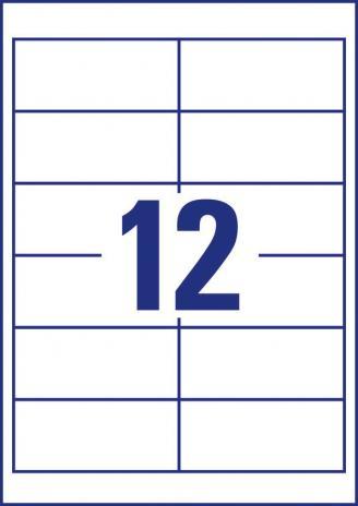 Avery Zweckform Universaletikett ultragrip 4781 97 x 42,3 mm weiß-5