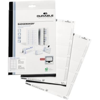 DURABLE Einsteckschild BADGEMAKER® 60 x 30 mm-5