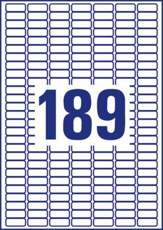 Avery Zweckform Universaletikett weiß, 25,4 x 10 mm, Vorteilspack + 5 Blatt gratis-5