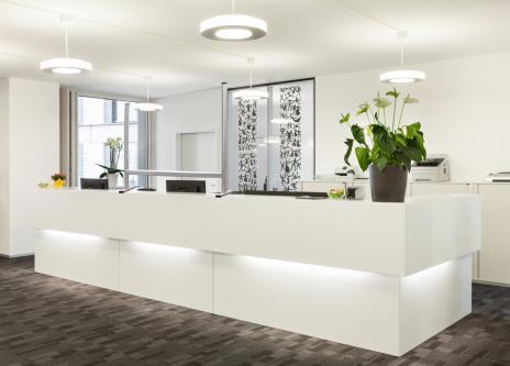 Trennwand / Spuck- und Niesschutz, Acrylglas 800 x 650 mm (B x H)-5