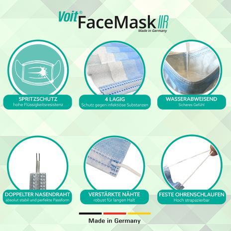 Voit OP-Masken, medizinische Gesichtsmasken Face Mask Typ IIR 50er Pack-5