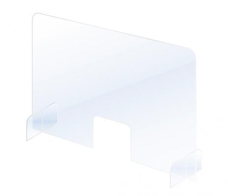 Schutzscheibe / Spuck- und Niesschutz, Acrylglas 700 x 850 mm (B x H)-5
