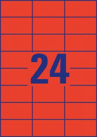 Avery Zweckform Universaletikett 70 x 37 mm, gelb-6