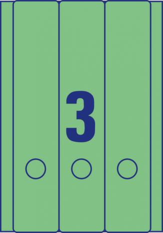 Avery Zweckform Ordnerrückenetikett breit/lang gelb-7
