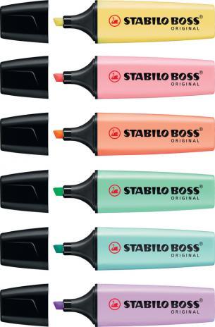 STABILO® Textmarker BOSS® ORIGINAL Pastellfarben rose, pastell rose-7
