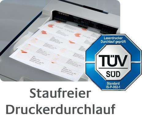 Avery Zweckform Universaletikett weiß, 96 x 50,8 mm, Vorteilspack + 5 Blatt gratis-7