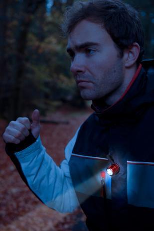 Troika Sport-Taschenlampe ECO RUN rot,schwarz-8