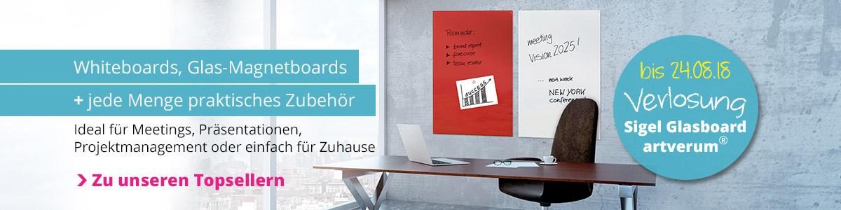 Hochwertige White- und Glasboards für Co-Working-Spaces und agiles Projektmanagement