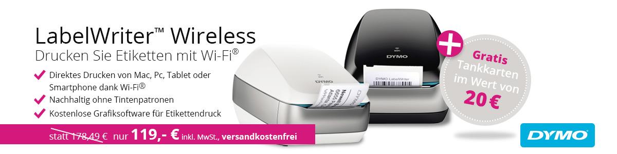 Bürobedarf - Aktionsangebot- Dymo LabelWRiter inkl. Tankkarten f. 20€