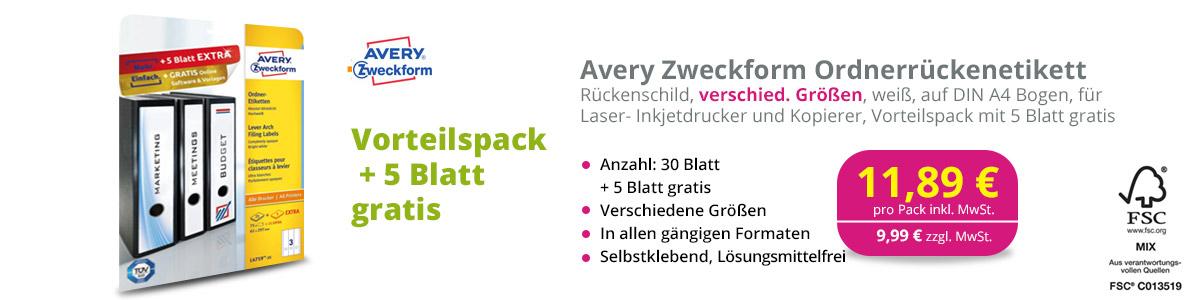 Avery Zweckform Rückenetikett