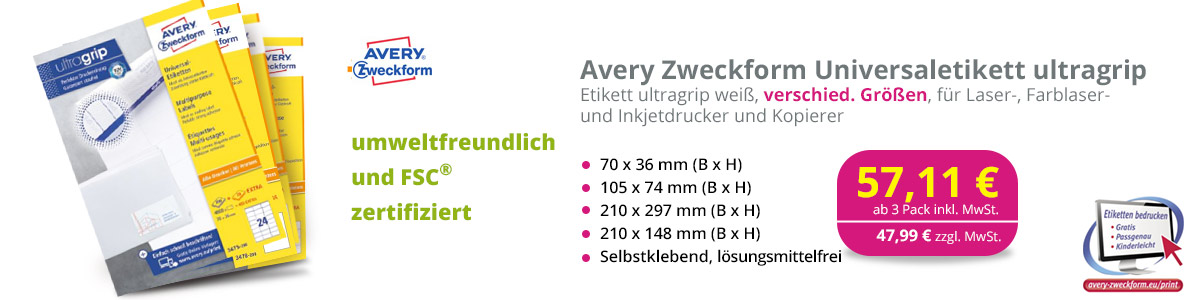 Avery Zweckform Ultragrip