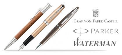 Marken Stifte - hochwertige Schreibgeräte von Graf von Faber Castell, Waterman, Pelikan, Parker und Pilot.