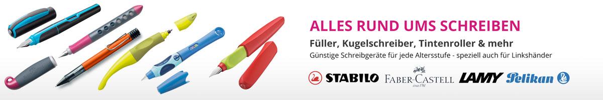 Füller, Kugelschreiber und Tintenroller für jede Altersstufe im Saueracker Online Shop günstig kaufen